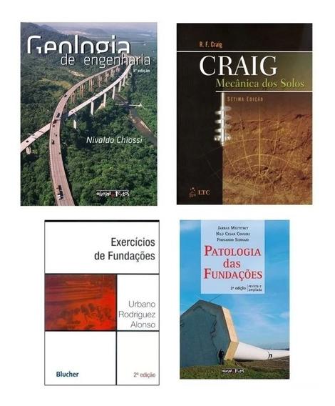 Lote Livros De Fundações - Engenharia Civil