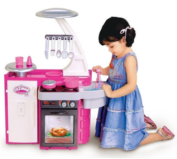 Cozinha Infantil Brinquedo Fogão Completa Geladeira Cotipas
