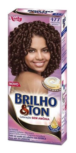 Tintura Brilho&ton 4.77 Chocolate Intenso