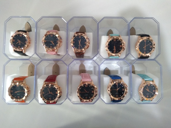 Kit C/10 Relógios Femininos Caixas Atacado Revenda Promoção