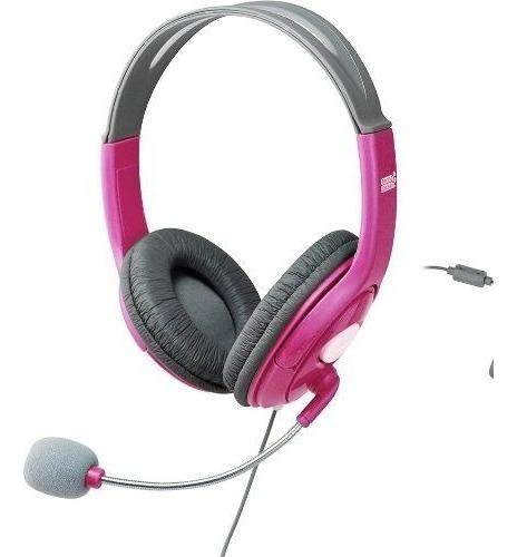 Fone De Ouvido Rosa Microfone Headset Tech Dealer Xbox360