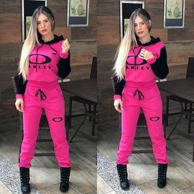 59ee31919 Conjunto Moleton Feminino - Calçados, Roupas e Bolsas Rosa chiclete ...