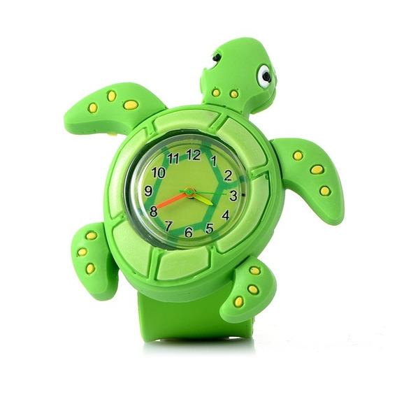 10pcs 3d Dibujos Animados Reloj Para Niños ( Tortugas )