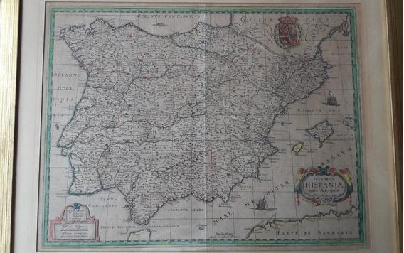 1631 Mapa Antiguo España Europa Willem Janszoon Blaeu