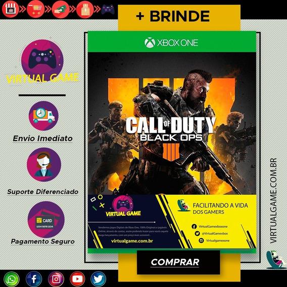 Call Of Duty Black Ops 4- Xbox One - Midia Digital + Brinde
