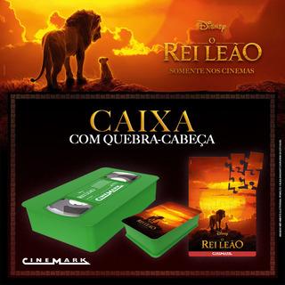 Caixa Vhs Verde Rei Leão Com Quebra-cabeça Brinde Cinemark