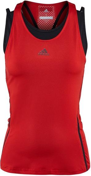 Playera Roja adidas Para Mujer Original Ce1450
