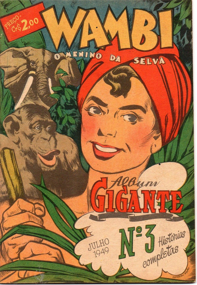Álbum Gigante (1ª Série) Nº 3 - Wambi - Ebal - Frete Grátis