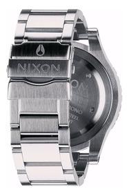 Pulseira Nixon 48-20 100% Original Aço Escovado A486000