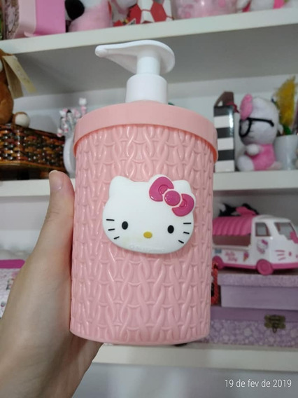Porta Detergente, Sabonete Liquido Hello Kitty 400 Ml
