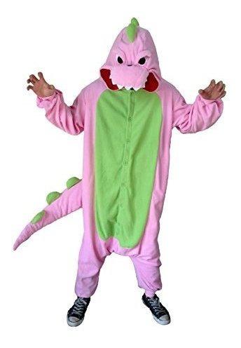 Sazac Dinosaur Kigurumi Adultos Xl Rosa