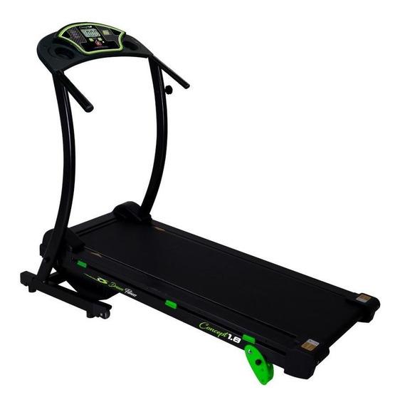 Esteira Dream Fitness Concept 1.8 6 Funções Preto Bivolt