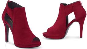 Zapato Rojo Gamuza Cklass 221-20