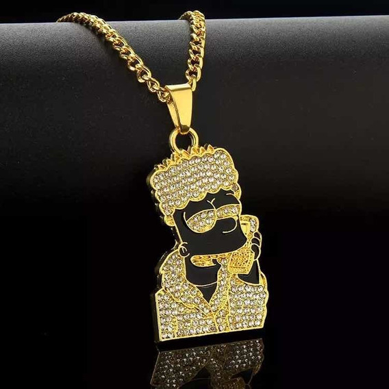 Corrente Iced Out Bart Trapper - (banho De Ouro 18k)