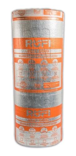 Imagen 1 de 4 de Aislante Membrana Termico Isolant 5mm Rufi Aluminizada