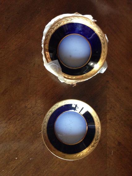 7 Platitos Azul Cobalto Guarda De Oro, Confiteria Del Gas