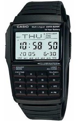 Relogio Casio Masculino Dbc32-1a Databank 25 Tel Calculadora