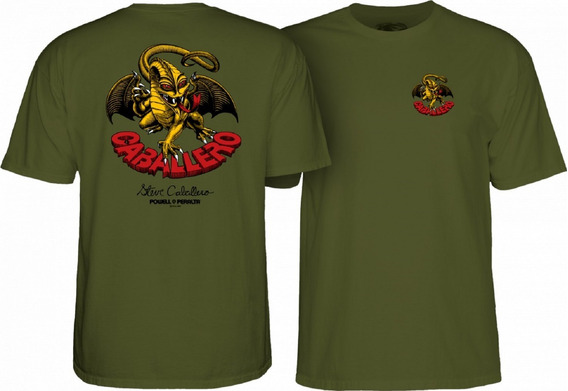 Playera Powell Peralta Cab Dragon Ii Military Greed