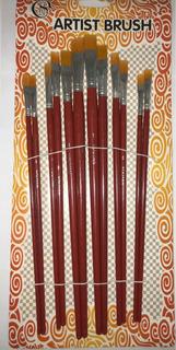 12 Pincel Sintético Numerado Grueso Set Arte Y Pintura