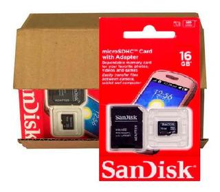 Kit Com 5 Cartão De Memoria 16gb Original Sandisk
