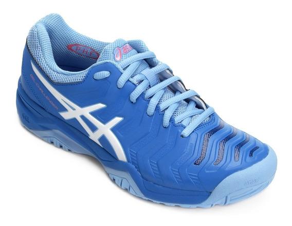 Tenis Asics Gel Challenger 11 - Feminino Azul E Branco