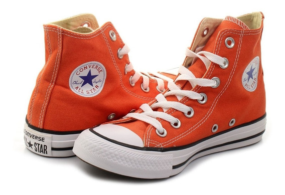 Zapatillas Converse All Star Hi Kids Naranja-sagat Deportes