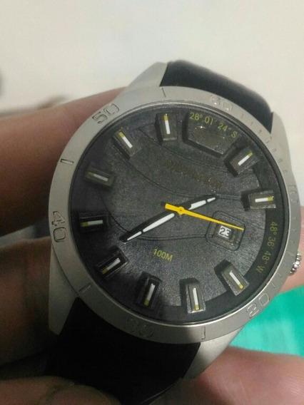 Relógio Mormaii (m02315zj) Preto Com Ponteiro Amarelo