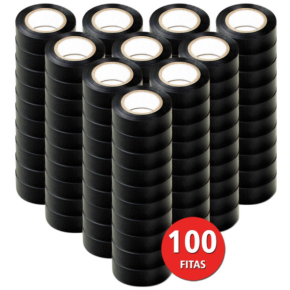 Kit 100 Fita Isolante 19x5 Metros Antichamas Beltools