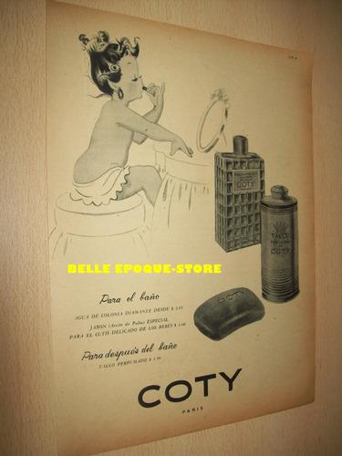 Clipping Antigua Publicidad Perfume Talco Jabon Coty