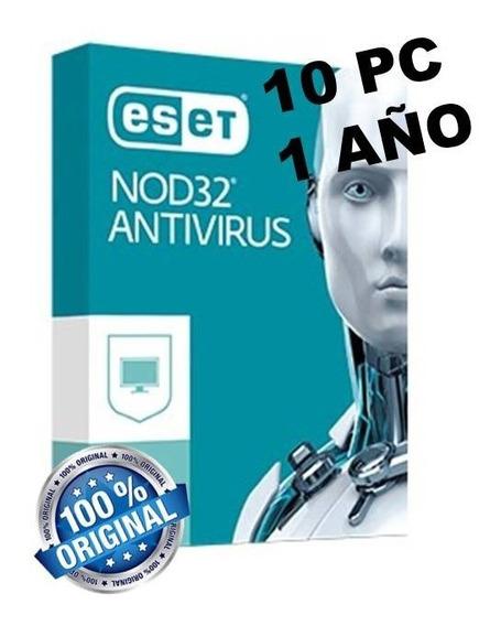Licencia Digital Est_nod32 Ant!v!rus - 10pc /1año (original)