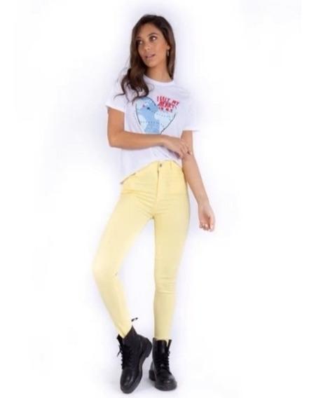 Pantalon Denim Jeans Tiro Alto Última Tendencia Verano 2020
