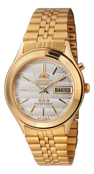 Relógio Orient Automático Dourado Masculino 21 Rubis Com Data