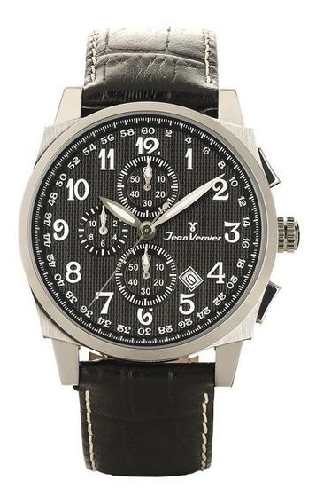 Relógio Jean Vernier Masculino Jv7045 Cronógrafo Prateado