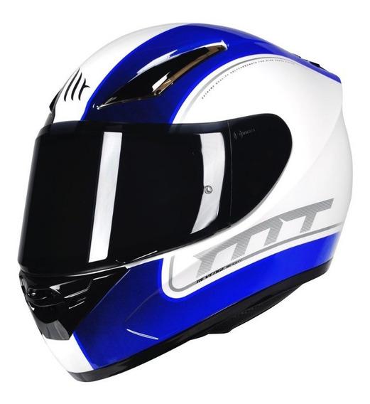 Capacete Mt Revenge Binomy Black White Blue Moto Motoqueiro