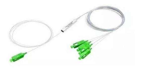 Splitter Fibra Optica Glc Plc Sm 1x8 Con Conec. Sc/apc X 2