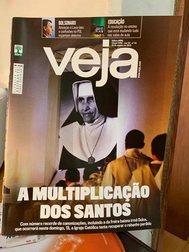 Imagem 1 de 1 de Veja Ed 2656 Outubro 2019 A Multiplicação Dos Santos