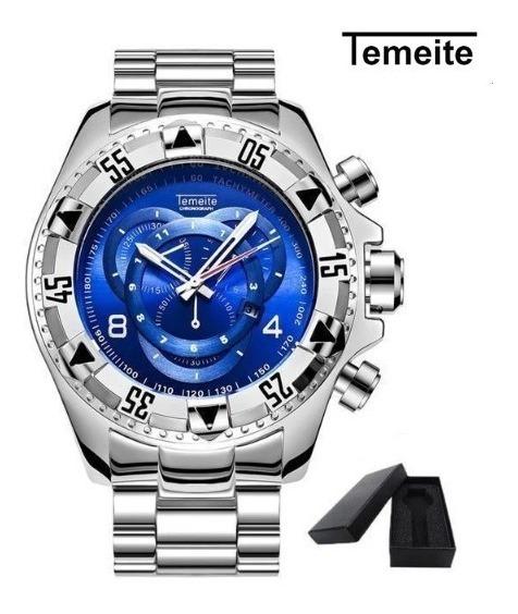 Relógio Temeite Big Dial Original Pronta Entrega