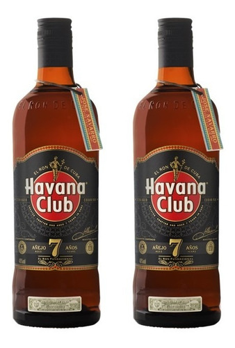 Kit 2 Rum Havana Club Rum 7 Anos 750ml