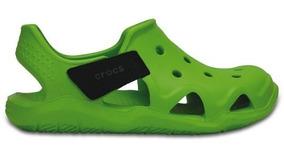 Zapato Crocs Niño Swiftwater Wave K Verde
