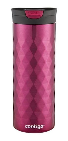Termo Acero Inox Kenton Snapseal Rojo Berry 591 Ml Contigo