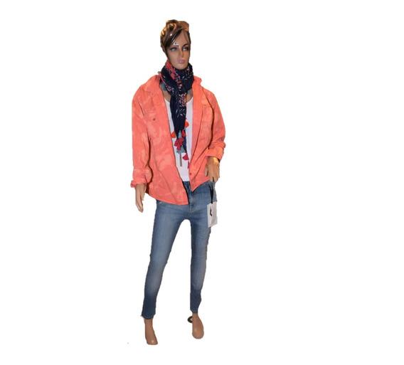 47 Street Camisa De Jean Naranja Nevada Promo
