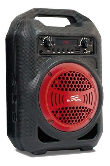 Caixa Som Usb, Sd, Rádio Fm, Aux, Bluetooth Bateria 4 Horas