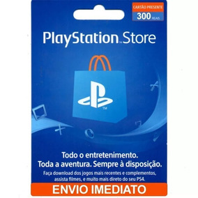 Cartão Playstation Psn Brasil 300 Reais (3x R$ 100) Imediato