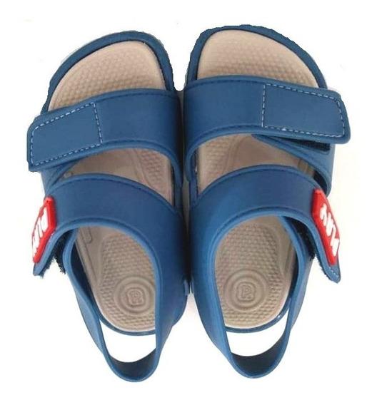 Sandália Azul Siliconada Menino Infantil -014678