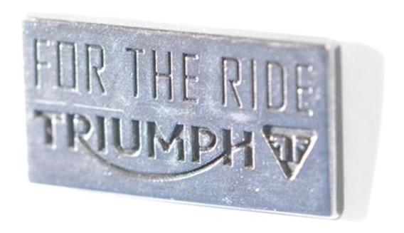Boton Triumph For The Ride Em Metal