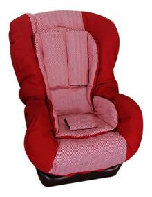 Capa Cadeira Carro Multimarcas Acolchoada Chevron Vermelho