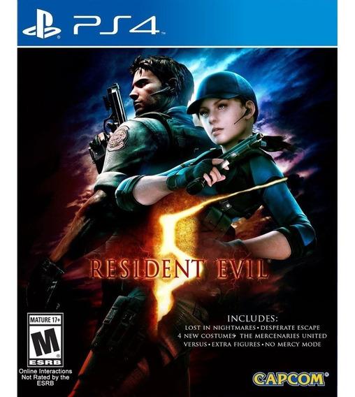 Resident Evil 5 Ps4 Mídia Física Lacrado