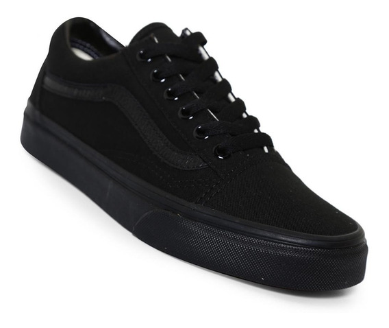 Tenis Vans Original Old Skool Totalmente Negros, Originales
