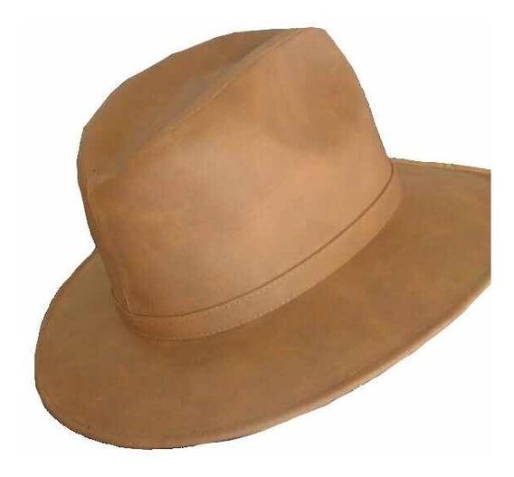Sombrero Cuero Piel Artesanal Unisex Hombre Mujer León Gto