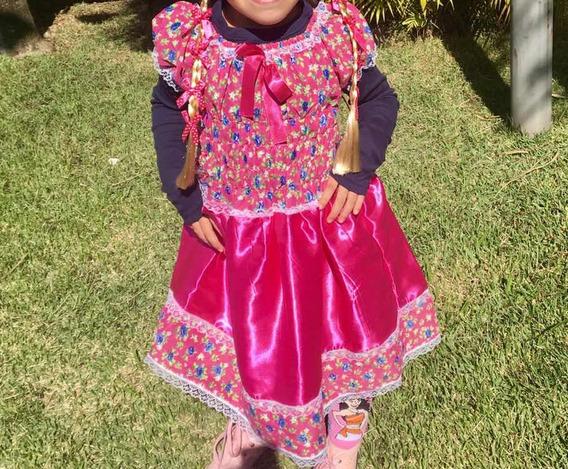 Vestido Festa Junina 5 Anos Com Tiara E Chapeuzinho Barato